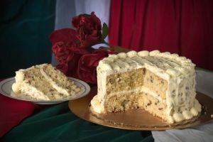 Italian Cream Cake Cut