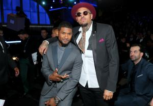 chris brown and usher The 57th Annual GRAMMY Awards - Backstage