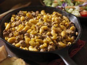 Cheesy Hamburger and Macaroni Dinner