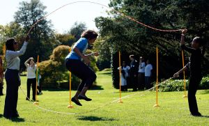 Michelle Obama Hosts Healthy Kids Fair At White House
