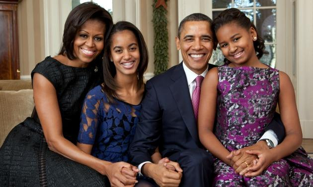 Obama Family Portrait
