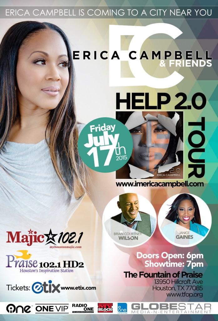 Erica Campbell Houston Church Tour 2015
