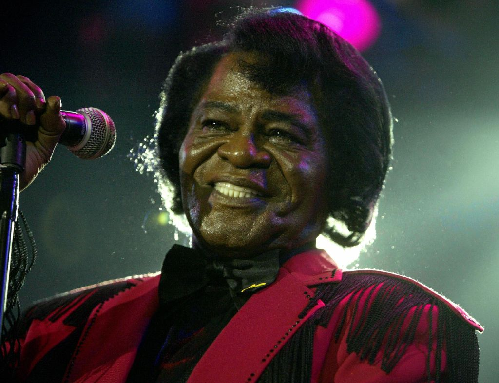 US soul legend James Brown performs on s