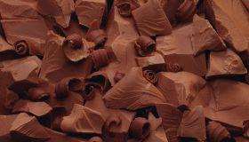 Chocolate chunks and shavings