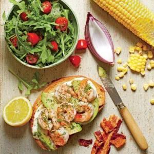 Open-Faced Shrimp-and-Avocado Sandwiches