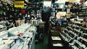 Compact Discs On Shelf At Shop
