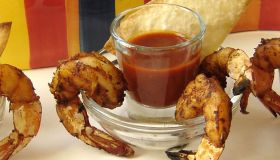 Grilled Shrimp with Guajillo Sauce