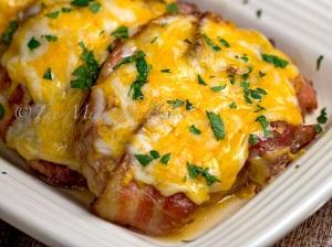 Bacon Cheese Brown Sugar Pork Chops