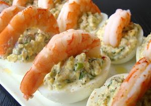 Shrimp and Deviled Eggs