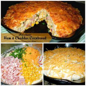 Ham And Cheddar Cornbread
