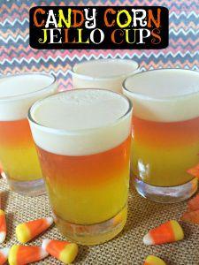 Jello Candy Corn Cup