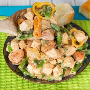 Cajun Sausage and Chicken Stir Fry