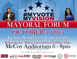 MyVoteMyVision Mayoral Forum