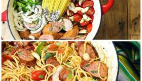 One Pot Mexican Pasta and Sausage