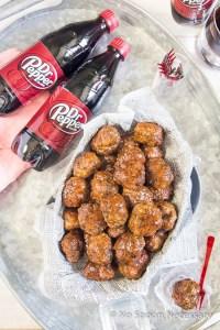 Dr Pepper Glazed Jalapeno Meatballs