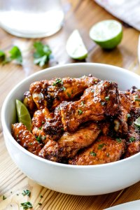 Baked Chipotle Honey Lime Hot Wings