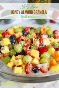 Key Lime Honey Almond Granola Salad