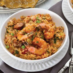 Chicken, Andouille, and Shrimp Jambalaya Recipe