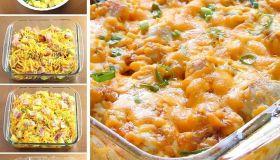 Loaded Baked Chicken Potato Casserole