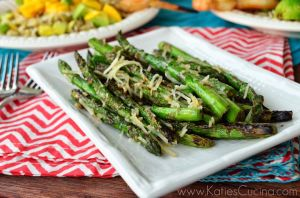 Grilled Parmesan and Pepper Asparagus