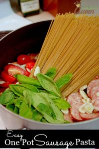 Easy One Pot Sausage Pasta