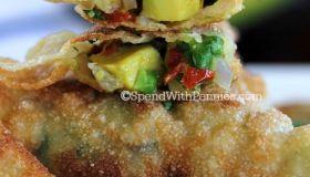 Crispy Avocado Wontons