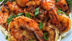 Grilled Jerk Shrimp & Grits
