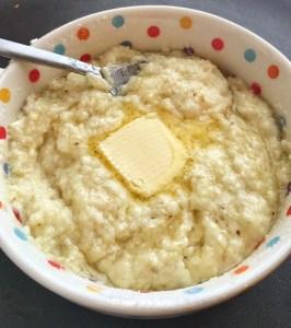 Sweet Mascarpone Breakfast Grits