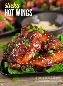 Sticky Hot Chicken Wings