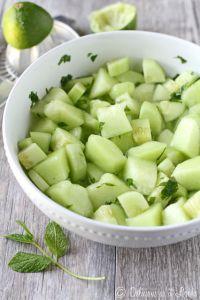 Mojito Cucumber Melon Salad