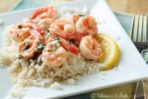 Lemon Shrimp over Rice