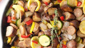 Sausage and Potato Summer Vegetable Skillet