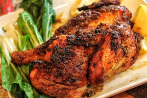 Brown Sugar & Garlic Roast Chicken