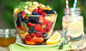 Orange Honey Rainbow Fruit Salad