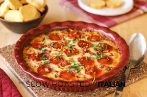 Meat Lover's 4 Layer Pizza Dip