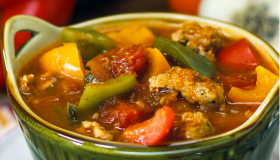Italian Sausage and Pepper Soup in Just 30 Minutes