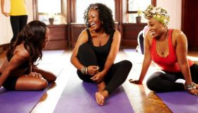 Black Women Doing Yoga