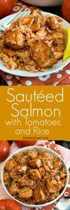 Sautéed Salmon with Rice and Tomatoes