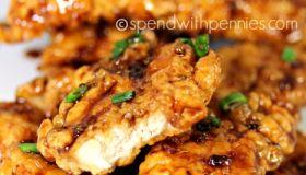 Honey Garlic Crunch Chicken Tenders