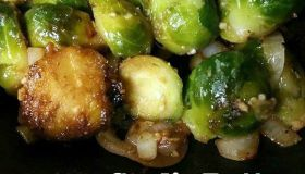 Garlic Butter Baby Brussels Sprouts