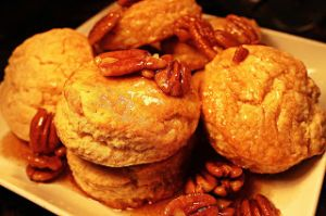 Easy Buttermilk Biscuits with Butter Pecan Syrup