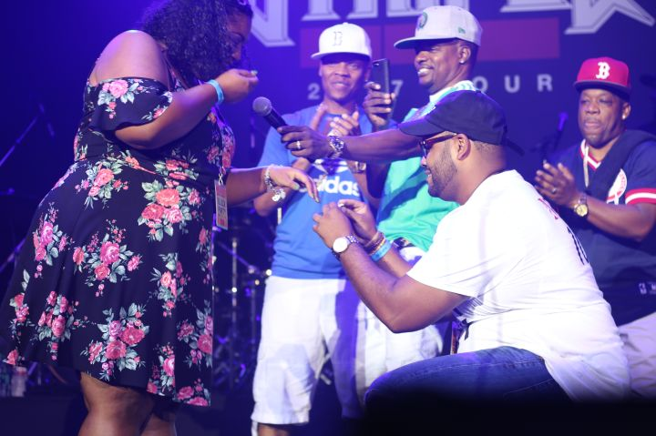 Bell Biv DeVoe performing at Majic's Summer Block Party