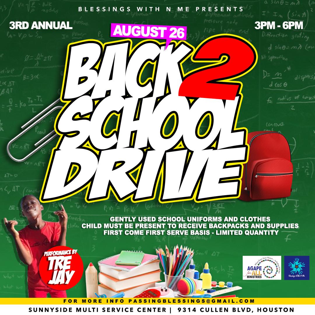 2017 Blessings Back 2 School Drive