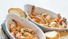 Baked Shrimp with Meyer Lemon Gremolata
