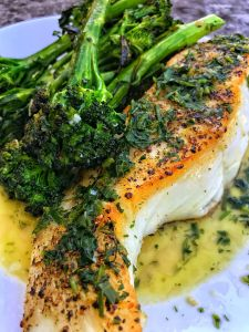 Chilean Sea Bass with Butter & Herbs