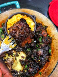 Cabernet Braised Ox Tails with Mascarpone Mashed Yams