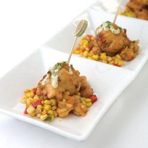 Shrimp and Andouille Beignets