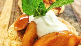 White Hennessy Peach Cobbler Shortcakes