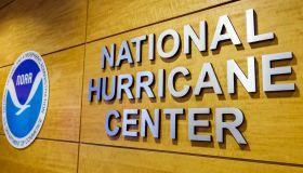 Miami, National Hurricane Center Sign and logo