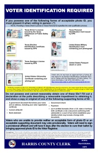 Approved Texas Voting Credentials 2018